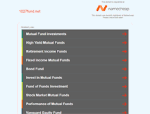 Tablet Preview of 1027fund.net